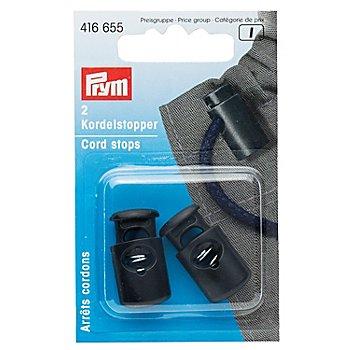 Prym Kordelstopper, schwarz, für Kordeln bis 6 mm Ø, Inhalt: 2 Stück