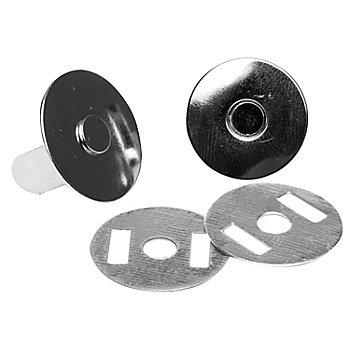 buttinette Magnet-Verschlüsse, Größe: 19 mm Ø, zum Aufstecken, Inhalt: 2 Stück