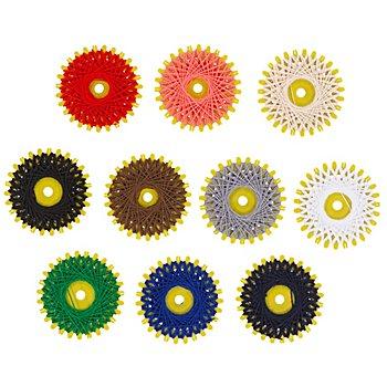buttinette Fil résistant, multicolore, 10 pièces à 20 m