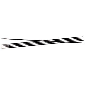 KnitPro Strumpfstricknadeln 'Karbonz', Karbonfasern, Länge: 20 cm