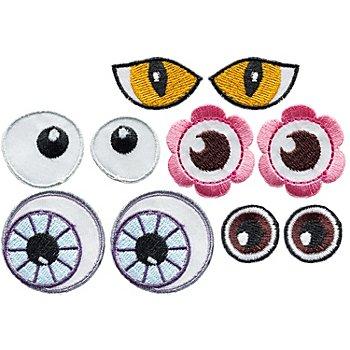 buttinette Applikationen 'Augen', Grösse: 2,4 - 3,5 cm, Inhalt: 10 Stück