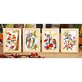 """Stickbilder """"Die 4 Jahreszeiten"""", 8 x 12 cm, 4er-Set"""