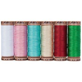Mettler Silk Finish Cotton Maschinen- & Handquiltgarn, Stärke: 40, Inhalt: 6 Spulen, Frühlingsgefühl
