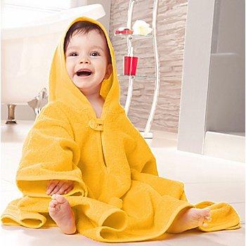 buttinette Poncho à broder en tissu éponge, jaune, 55 x 71 cm