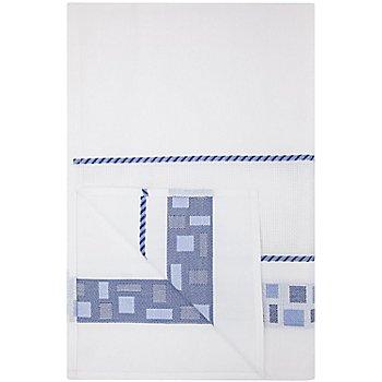 Torchon à broder 'mosaïque', bleu