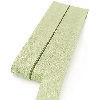 buttinette Baumwoll-Schrägband, limone, Breite: 2 cm, Länge: 5 m