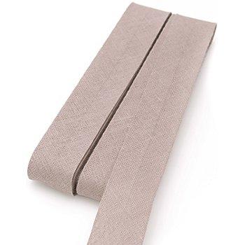 buttinette Baumwoll-Schrägband, taupe, Breite: 2 cm, Länge: 5 m