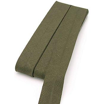 buttinette Baumwoll-Schrägband, oliv, Breite: 2 cm, Länge: 5 m