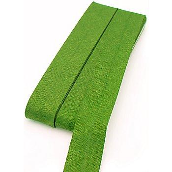 buttinette Baumwoll-Schrägband, apfelgrün, Breite: 2 cm, Länge: 5 m