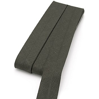buttinette Baumwoll-Schrägband, dunkelgrau, Breite: 2 cm, Länge: 5 m