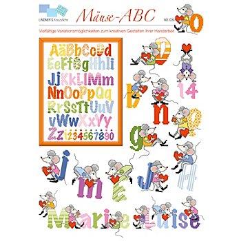 Livret de broderie 'ABC avec souris'