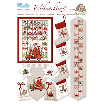 Stickvorlage 'Weihnachtszeit'