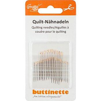 buttinette Quiltnähnadeln, Stärke: 0,53 - 0,71 mm, Länge: 25,5 - 39,0 mm, Inhalt: 30 Stück