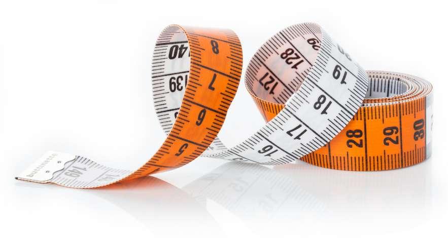 Sonline Schneider Massband Messband 150cm Weich Plastik Weiss