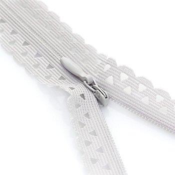 Prym Fermeture à glissière 'dentelle', gris clair, non séparable