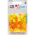 """Prym Boutons pression """"Color Snaps"""", jaune multicolore, 12,4 mm Ø, 30 pièces"""