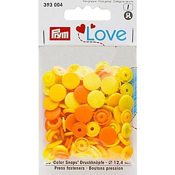 Prym Boutons pression 'Color Snaps', jaune multicolore, 12,4 mm Ø, 30 pièces