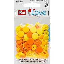 Prym Druckknöpfe 'Color Snaps', gelb color, 12,4 mm Ø, 30 Stück
