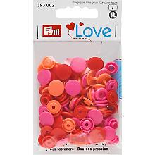 Prym Boutons pression 'Color Snaps', rouge multicolore, 12,4 mm Ø, 30 pièces