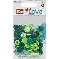 """Prym Boutons pression """"Color Snaps"""", vert multicolore, 12,4 mm Ø, 30 pièces"""