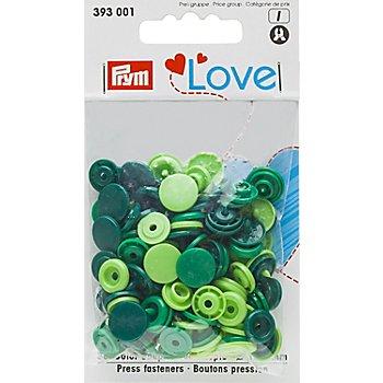 Prym Druckknöpfe 'Color Snaps', grün color, 12,4 mm Ø, 30 Stück