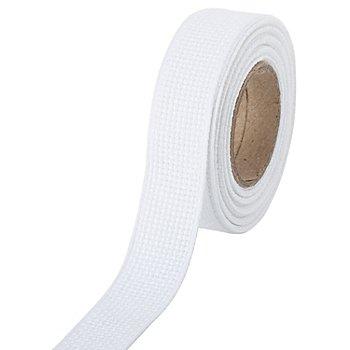 Aida-Stickband, weiß, Breite: 2 cm, 5m-Rolle