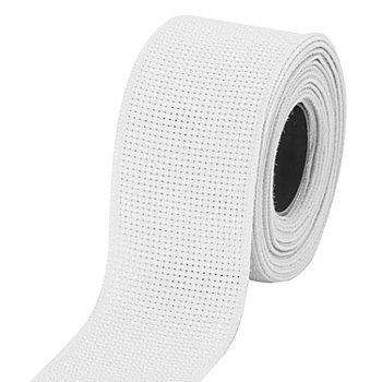 Aida-Stickband, weiß, Breite: 4 cm, 5m-Rolle