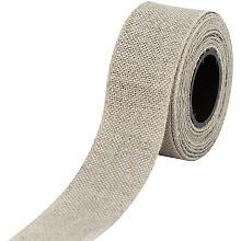 Leinen-Stickband, leinen, Breite: 3 cm, 5m-Rolle