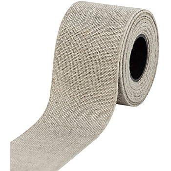Leinen-Stickband, leinen, Breite: 5 cm, 5m-Rolle