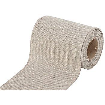 Leinen-Stickband, leinen, Breite: 10 cm, 5m-Rolle