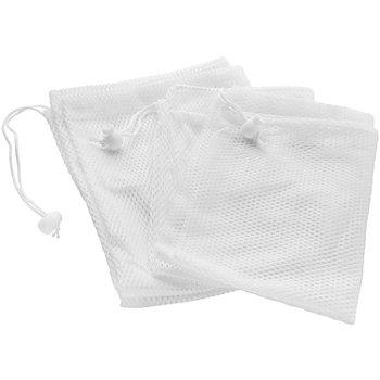 buttinette Filet de lavage, blanc, 68 x 47 cm et 30 x 40 cm, 3 pièces