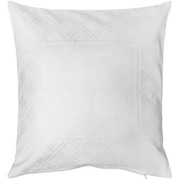 Kissenhülle 'Raute' weiß, zum Besticken, 40 x 40 cm
