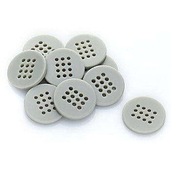 buttinette Knöpfe zum Besticken, Größe: 20 mm Ø, Inhalt: 10 Stück