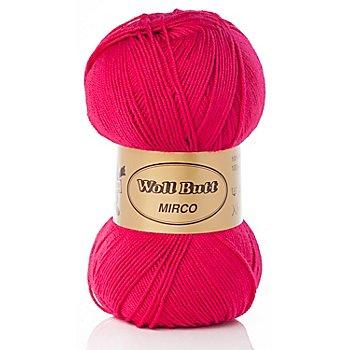 Laine Woll Butt Mirco uni & multicolore tendance, fuchsia