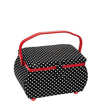 Prym Nähkästchen 'Polka Dots', Größe: 32 x 20,5 x 20 cm