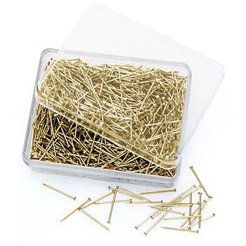 buttinette Stahl-Stecknadeln, gold, Länge: 16 mm, Inhalt: 50 g = ca. 1000 Stück