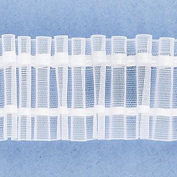 buttinette Ruban fronceur tubulaire à plis crayon, transparent