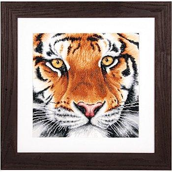 Lanarte Kreuzstichbild 'Tiger', 35 x 34 cm