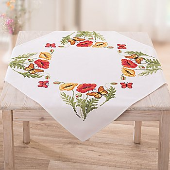 Nappe à broder 'coquelicot'