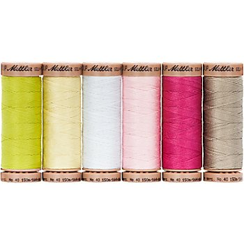 Mettler Silk Finish Cotton Maschinen- & Handquiltgarn, Stärke: 40, Inhalt: 6 Spulen, Frühlingstraum