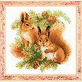 """Stickbild """"Eichhörnchen"""", 25 x 25 cm"""