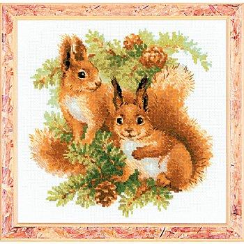 Stickbild 'Eichhörnchen', 25 x 25 cm