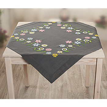 Stickmitteldecke 'Happy Flowers'