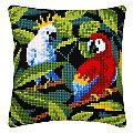 "Kreuzstichkissen ""Tropical Birds"""