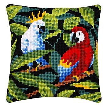 Kreuzstichkissen 'Tropical Birds'