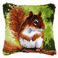 """Knüpfkissen """"Eichhörnchen"""""""