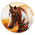 """buttinette Tapis au point noué """"cheval western"""", 55 cm Ø"""