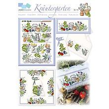 Stickvorlage 'Kräutergarten'