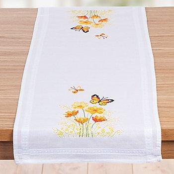 Stickläufer 'Schmetterlinge orange'