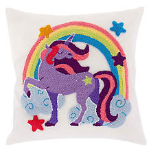 Kit broderie Coussin Punch Needle 'licorne'